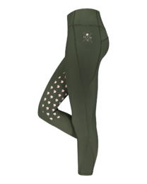 House of Horses Unicorn Grip Winter Leggings, army queen